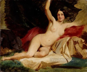 nude naked body Painting - Female Nude in a Landscape female body William Etty